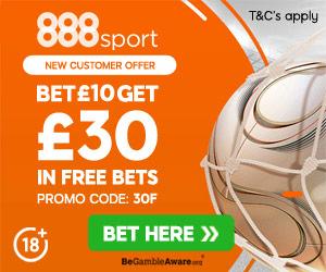 888sport - Bet £10 & Get £30