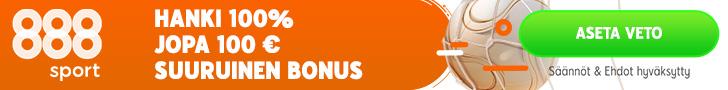 888sport on laadukas vedonlyöntisivusto suomeksi. Vedonlyöntisivusto jossa nettikasino, vedonlyönti ja vedonlyöntibonukset.